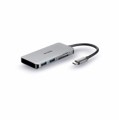 D-Link DUB-M610 6-in-1 USB-C Hub with HDMI/Card Reader/Po...