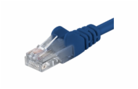 PremiumCord Patch kabel UTP RJ45-RJ45 level 5e 0.5m modrá