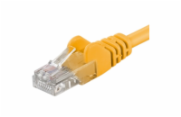 PremiumCord Patch kabel UTP RJ45-RJ45 level 5e 0.5m žlutá
