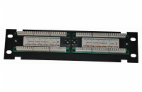 "Patch panel 10"" UTP cat6, 12portů"