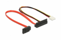 Delock Cable SATA 6 Gb/s 7 pin receptacle + Floppy 4 pin power receptacle (5 V + 12 V) > SATA 22 pin receptacle upwards