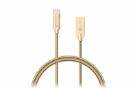 CONNECT IT Wirez Steel Knight USB-C (Type C) - USB-A, metallic gold, 1 m
