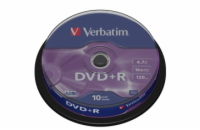 VERBATIM DVD+R(10-Pack)Spindle/General Retail/16x/4.7GB