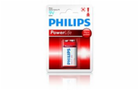 Philips baterie 9V PowerLife, alkalická - 1ks