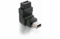 Adaptér USB mini B 5-pin 90° samec na USB mini B samice