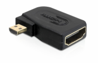 Delock Adaptér High Speed HDMI s Ethernetem - micro D samec > A samice pravoúhlý