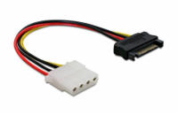 Power Adapter SATA 15-pin samec na Molex samice 4-pin, 12cm