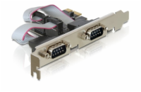Delock adaptér PCI Express x1 2x sériový port + low profile