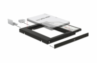 "Delock Slim SATA 5.25"" Installation Frame for 1 x 2.5"" SATA HDD up to 9.5 mm"