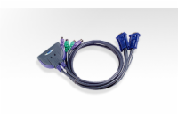 ATEN KVM switch CS-62S PS/2 2PC mini vč. kabeláže 0,9m