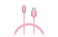 CONNECT IT Wirez Premium Metallic Lightning - USB, rose gold, 1m