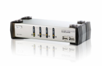 ATEN CS1734AC-AT 4  PORT KVM & USB FOR PS2 W/1.8