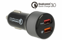 Navilock Autonabíječka 2 x USB Type-A s Qualcomm® Quick Charge™ 3.0