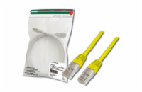 Digitus Patch Cable, UTP, CAT 5e, AWG 26/7, měď, žlutý, 1m