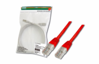 Digitus Patch Cable, UTP, CAT 5e, AWG 26/7, měď, červený 10m