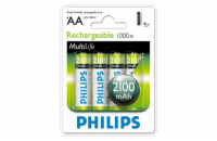 Philips baterie AA 2100mAh MultiLife, NiMh - 4ks