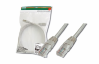 Digitus Patch Cable, UTP, CAT 5e, AWG 26/7, měď, šedý 1,5m