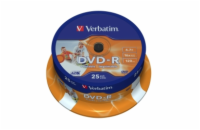 VERBATIM DVD-R(25-Pack)Spindle/Inkjet Printable/16x/4.7GB