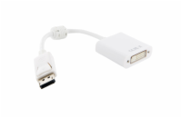4World Adaptér DisplayPort [M] > DVI-I (24+5) [F], ferryt, bílý