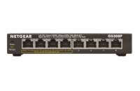 Netgear 8-Port, 4xPoE 53W Gigabit Desktop Switch Metal (GS308P)