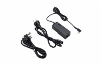 Acer 45W Adapter NP.ADT0A.077 45W_3phy 19V Black EU and UK POWER CORD (Swift 1, 3, 5; Spin 1, 5;  TM X3;  TM Spin B1; Chromebook11,R11,14,15