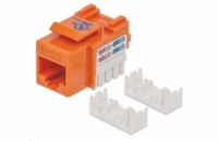 Intellinet Cat6 Keystone Jack, UTP, Orange, Punch-down