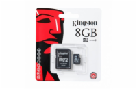 KINGSTON 8 GB microSDHC Memory Card - High Capacity Class 4 + adaptér