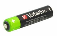 1x4 Verbatim Rechargeable batter y pack Micron AAA 1000 mAH 49942