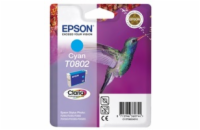 EPSON cartridge T0802 cyan (kolibřík)