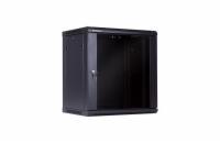 Linkbasic rack wall-mounting cabinet 19'' 15U 600x450mm black (glass front door)