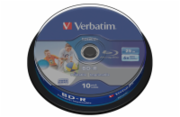 Verbatim BD-R SL 25GB 6x, printable, spindle, 10ks (43804)