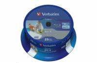 Verbatim Blu-ray BD-R DataLife [ Spindle 25 | 25GB | 6x | WIDE PRINTABLE NO ID ]