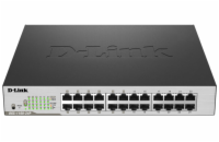 D-Link DGS-1100-24P 24-port Gigabit Smart switch, 12x GbE PoE+, PoE 100W