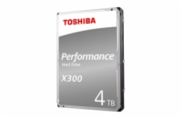 Internal HDD Toshiba X300, 3.5'', 4TB, SATA/600, 128MB cache BOX