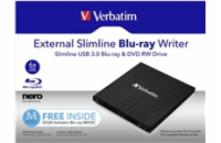 VERBATIM Mobile Blu-ray Rewriter USB 3.0 mechanika Zdarma BR Disc 25GB (CD DVD BD Mdisc)