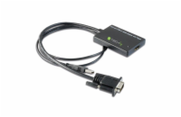 Techly konvertor M/F VGA na HDMI, USB audio