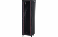 Netrack standing server cabinet 42U/600x800mm (glass door)-black FULLY ASSEMBLED