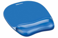 Fellowes mouse pad, wrist rest, gel, CRYSTAL, blue