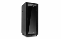 Netrack server cabinet RACK 19'' 32U/600x800mm ASSEMBLED (glass door) - black