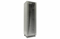 Netrack standing server cabinet 42U/600x600mm (glass door)-grey FULLY ASSEMBLED