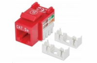 Intellinet Cat5e Keystone Jack, UTP, Red, Punch-down