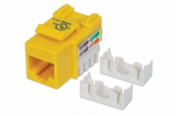 Intellinet Cat5e Keystone Jack, UTP, Yellow, Punch-down
