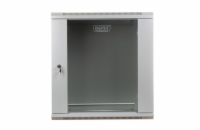 DIGITUS Wall Mount Cabinet 19'' 12U 635/600/450mm, glass door, grey, unmounted