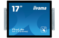 "17"" iiyama TF1734MC-B6X: TN, SXGA, capacitive, 10P, 350cd/m2, VGA, DP, HDMI, černý"