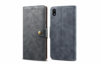 Lenuo Leather na Xiaomi Redmi 7A, šedá