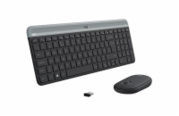 Logitech Slim Wireless Keyboard and Mouse Combo MK470-GRAPHITE-CZE-SKY-2.4GHZ-