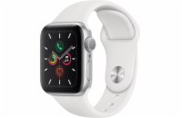 Apple Watch Series 5 GPS, 44mm Silver Aluminium Case with White Sport Band - S/M & M/L