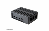 AKASA krabička pro Raspberry Pi 4 Model B, Extended Aluminium, with Thermal Modules (SD Slot concealed)