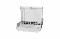 MIKROTIK netPower 16P 18 port switch with 16 Gigabit PoE-out ports and 2 SFP+