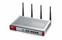 Zyxel ZyWALL USG60W, Security Firewall, VPN: 20x IPSec/ 20x SSL (5 default), 6x 1Gbps (4x LAN/DMZ, 2x WAN, Dual radio 2,4GHz and 5